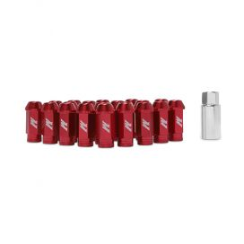 Mishimoto Aluminum Lug Nuts with Lock: Red Red M12 x 1.5