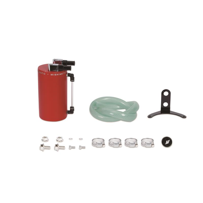 Mishimoto Large Aluminum Oil Catch Can: Red