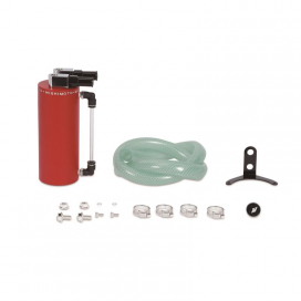 Mishimoto Small Aluminum Oil Catch Can: Red