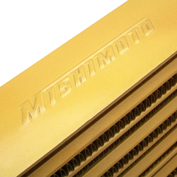 Mishimoto M-Line Eat Sleep Race Edition Gold Universal Intercooler-A4