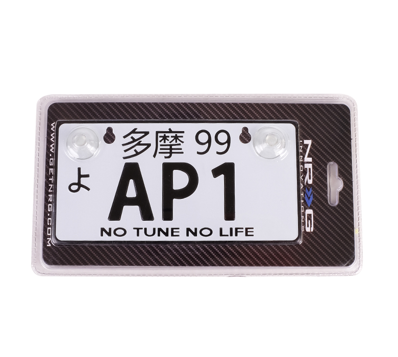 NRG JDM Mini License Plate: AP1