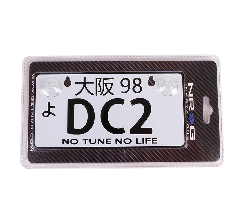 NRG JDM Mini License Plate: DC2