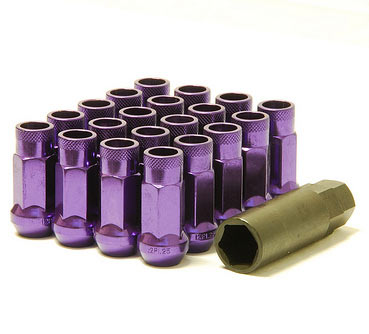 Muteki SR48 Open Ended Lug Nuts 20 Pack: Purple