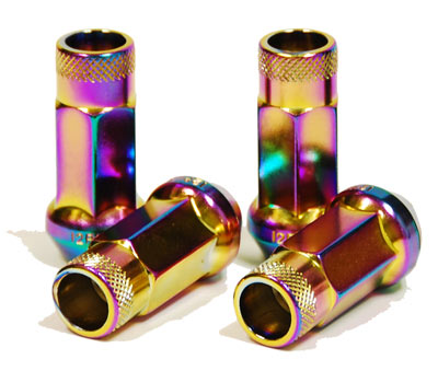 Muteki SR48 Open Ended Lug Nuts: Neochrome
