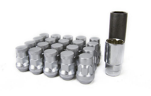 Muteki SR35 Closed Ended Lug Nuts 20 Pack: Silver M12 x 1.25