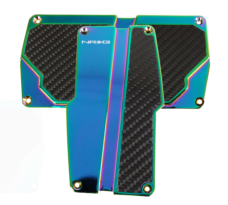 NRG Neochrome with Black Carbon Fiber Aluminum Automatic Sport Pedals