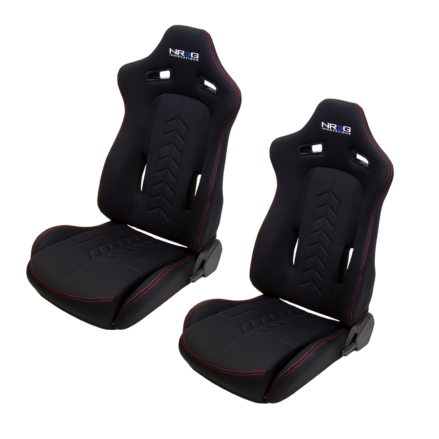 NRG The Arrow Cloth Sport Seats (Pair)