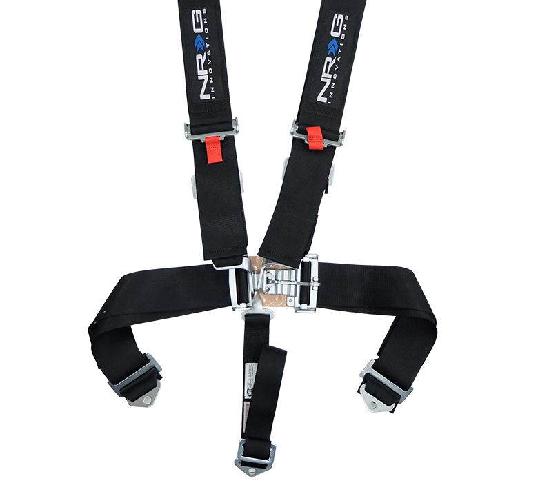 NRG Black 5 Point Latch Link Seat Belt Harness