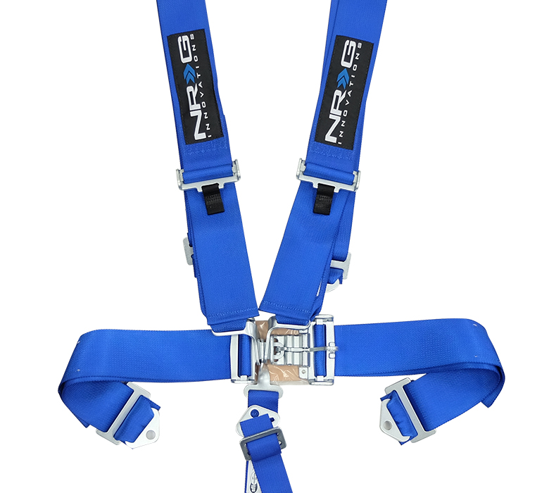 NRG Blue 5 Point Latch Link Seat Belt Harness