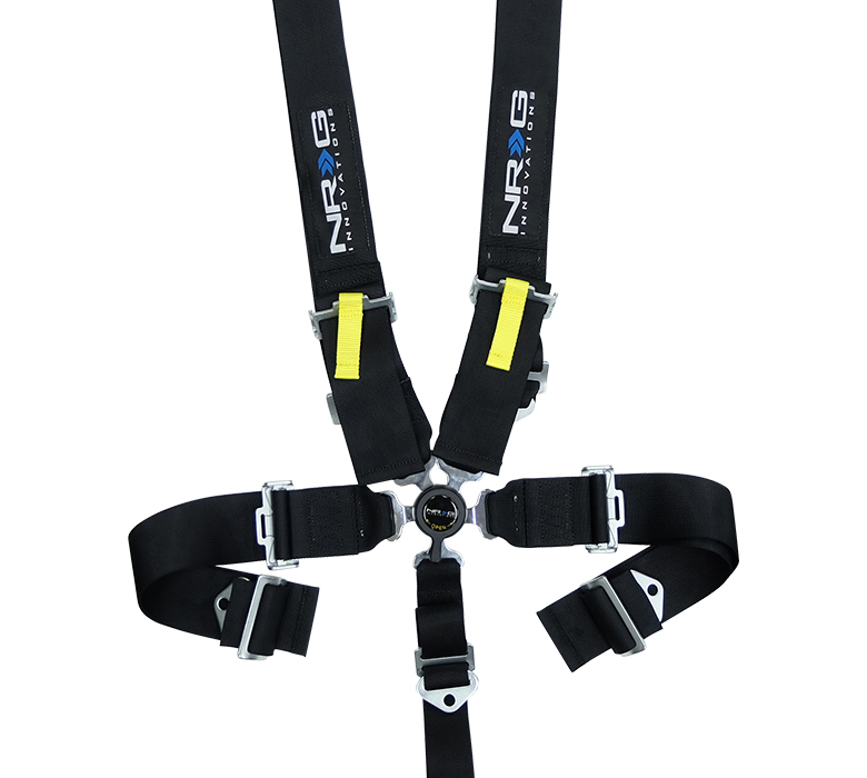 NRG Black 5 Point Cam Lock Seat Belt Harness