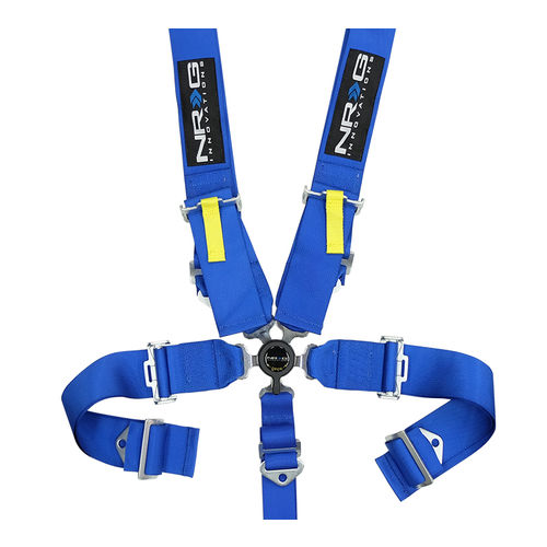 NRG Blue 5 Point Cam Lock Seat Belt Harness