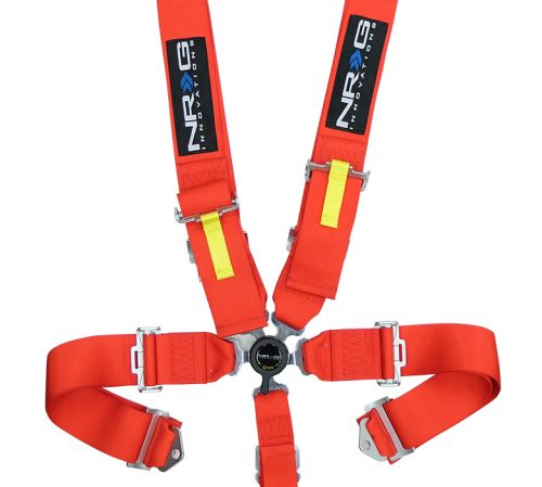 NRG Red 5 Point Cam Lock Seat Belt Harness