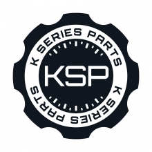 "K Series Parts Black ""Oil Cap"" Logo Sticker"