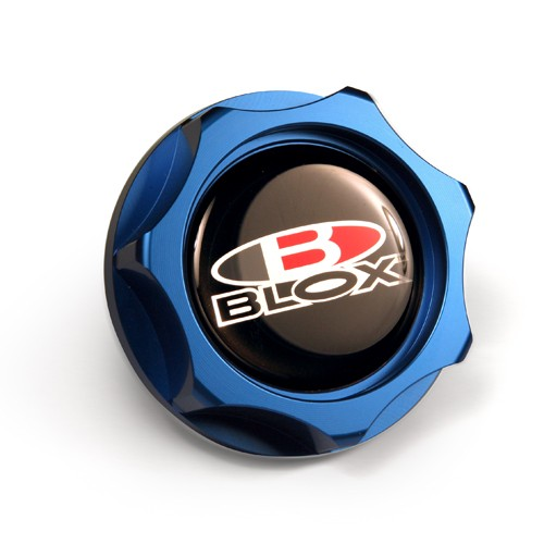 Blox Billet Oil Cap: Blue
