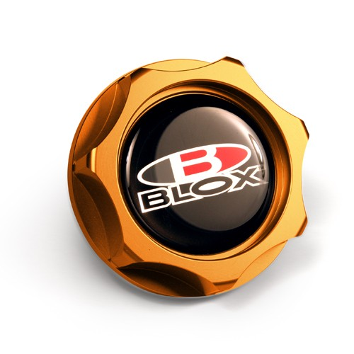 Blox Racing Billet Oil Cap: Gold