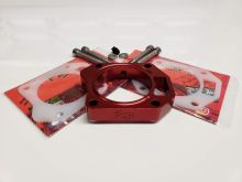 Power Rev Racing 06-11 Civic Si Red Throttle Body Spacer w/ Gaskets