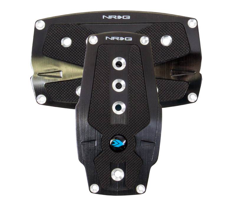 NRG Black Pad Cover Plate Racing Pedals