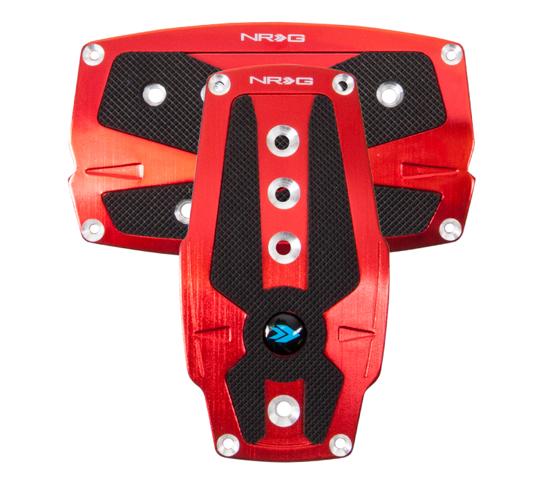 NRG Red Pad Cover Plate Racing Pedals Auto Transmission