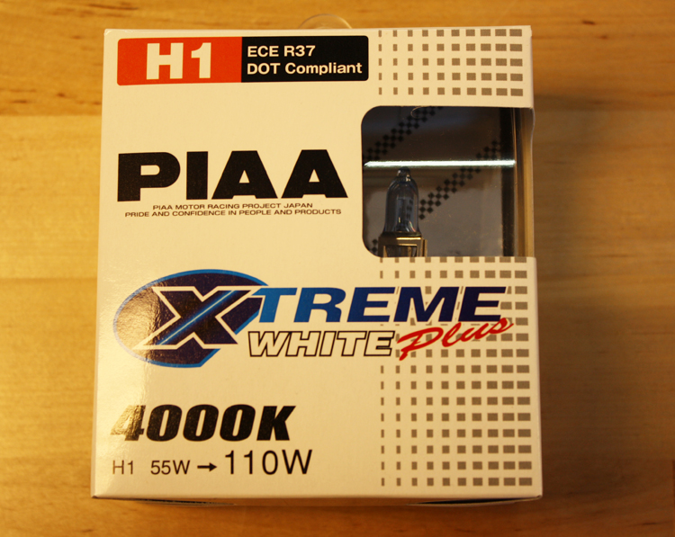 PIAA Xtreme White H1 Bulbs (Twin Pack)