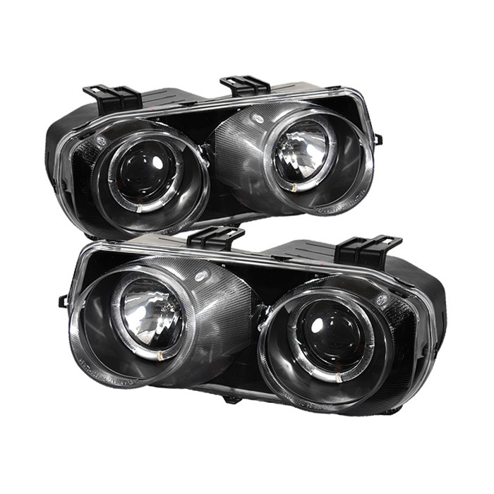 Spyder Halo Projector Headlights: Black