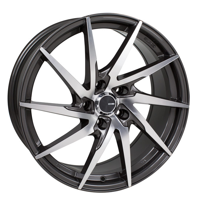 Enkei PW10 Gunmetal Mach Wheel: 17x7.5 +45