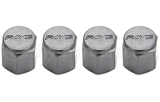 Rays Engineering Gun Metal Valve Cap Set (4 Caps)-A1