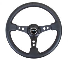 NRG Black Center Leather 350mm Steering Wheel