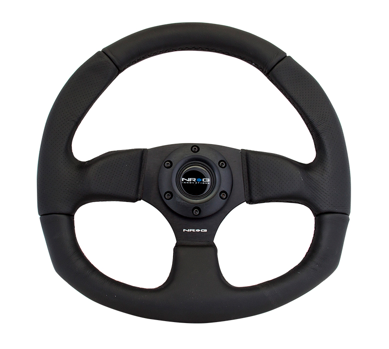 NRG Race Style Steering Wheel: Leather