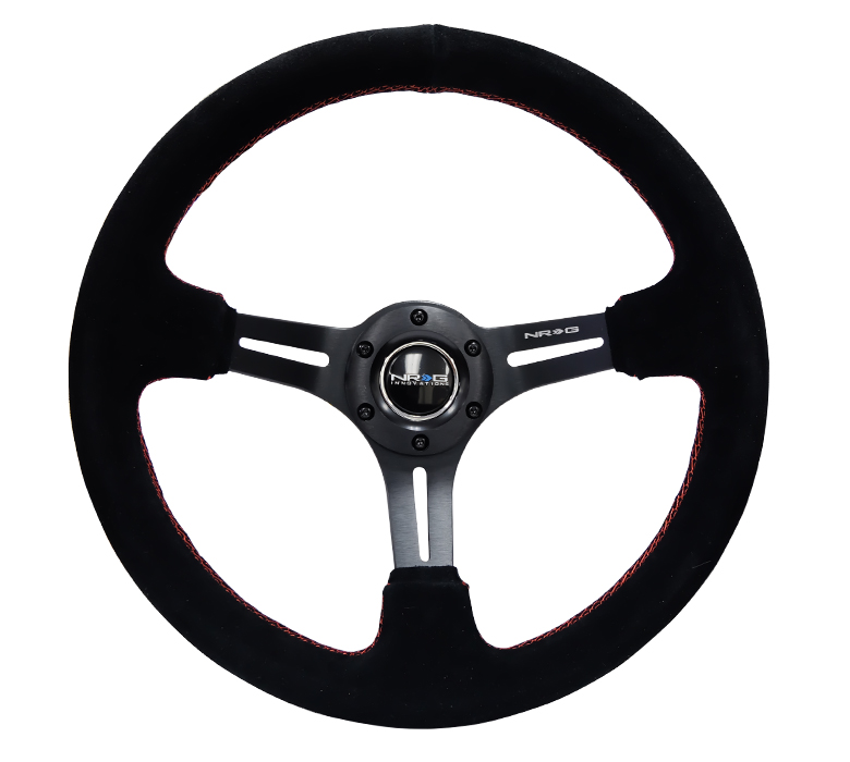 NRG Black Sport Suede Steering Wheel