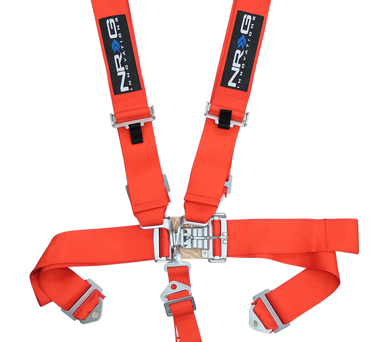NRG Red 5 Point Latch Link Seat Belt Harness