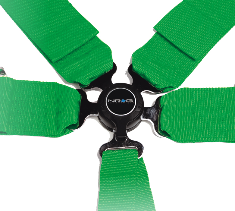 NRG Green 6 Point Cam Lock Harness