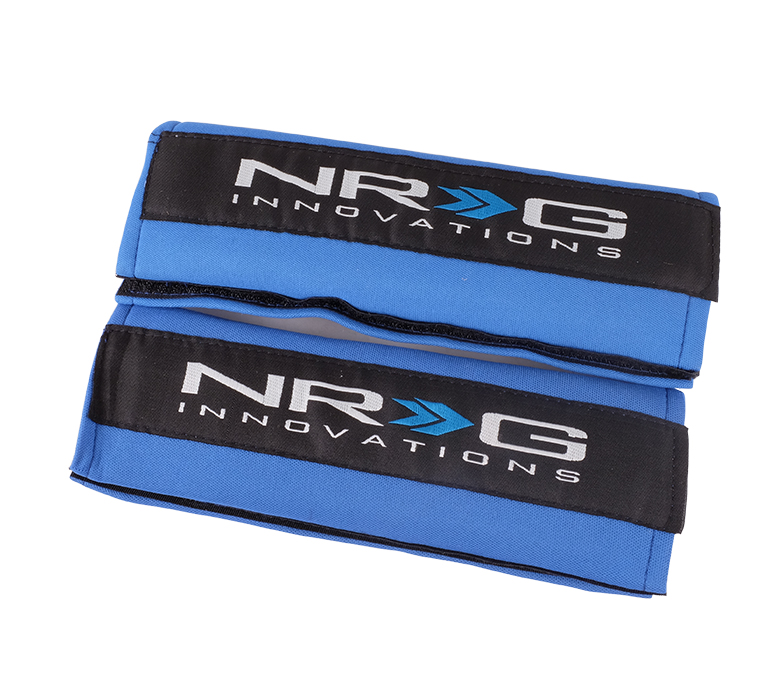 NRG Blue Seat Belt Pads