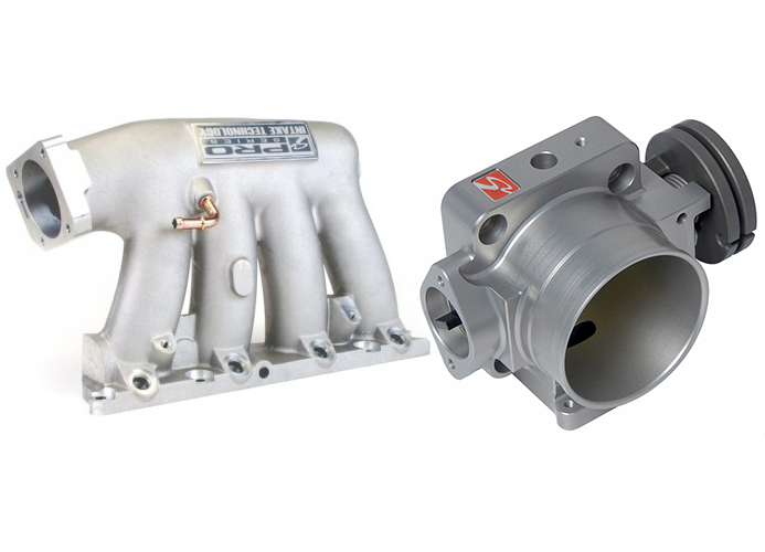 Skunk2 Pro-Series Intake Manifold and 74mm Throttle Body Combo: Silver