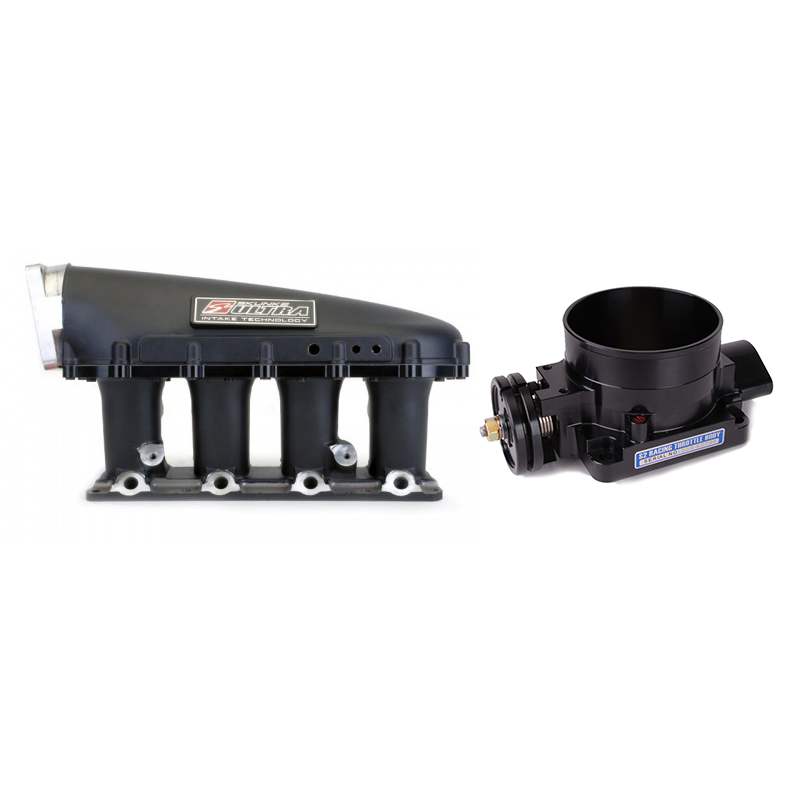 Skunk2 Ultra Series Manifold and 90mm Throttle Body Combo: Black