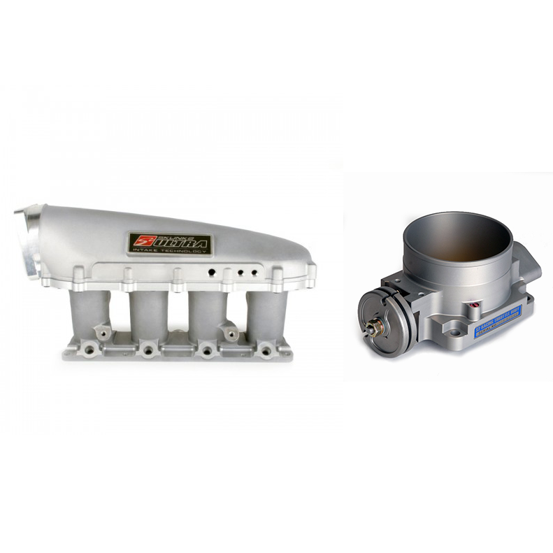 Skunk2 Ultra Series Manifold and 90mm Throttle Body Combo: Silver
