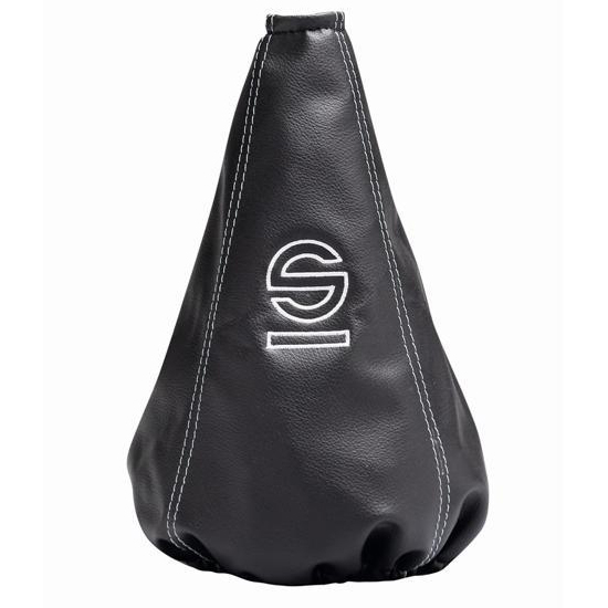 Sparco Basic Leather Shift Boot: Black with Silver Stitching