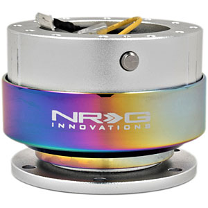 NRG Silver Body Neochrome Ring 2.0 Quick Release