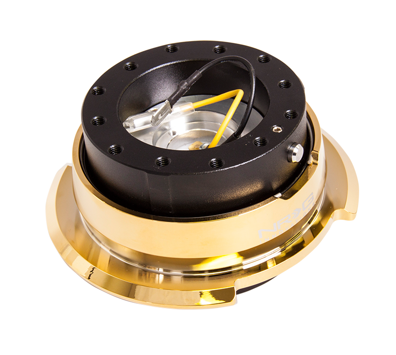 NRG 2.8 Quick Release: Black Body with Chrome Gold Ring