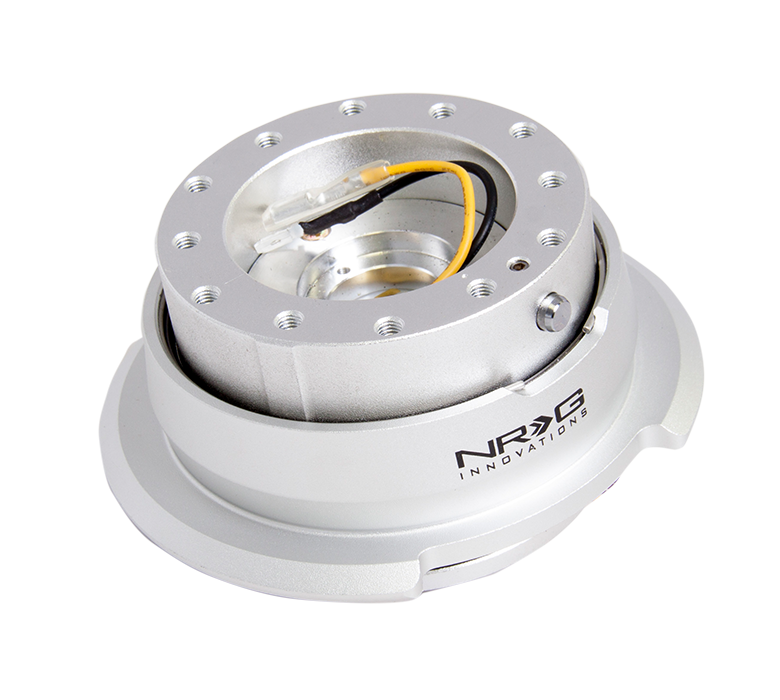 NRG Silver Body with Silver Ring 2.8 Quick Release-A1