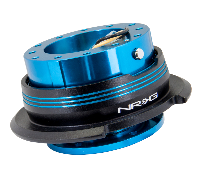 NRG Blue Metal Body With Blue Stripe Ring 2.9 Quick Release