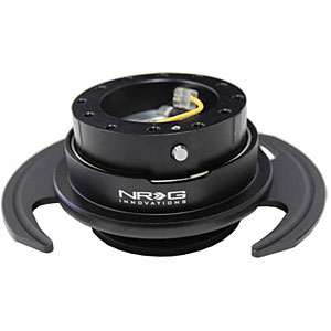 NRG Black Body with Black Ring 3.0 Quick Release