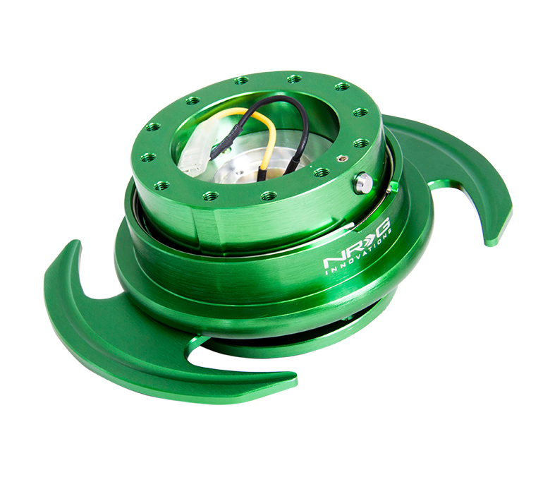 NRG Green Body with Green Ring 3.0 Quick Release