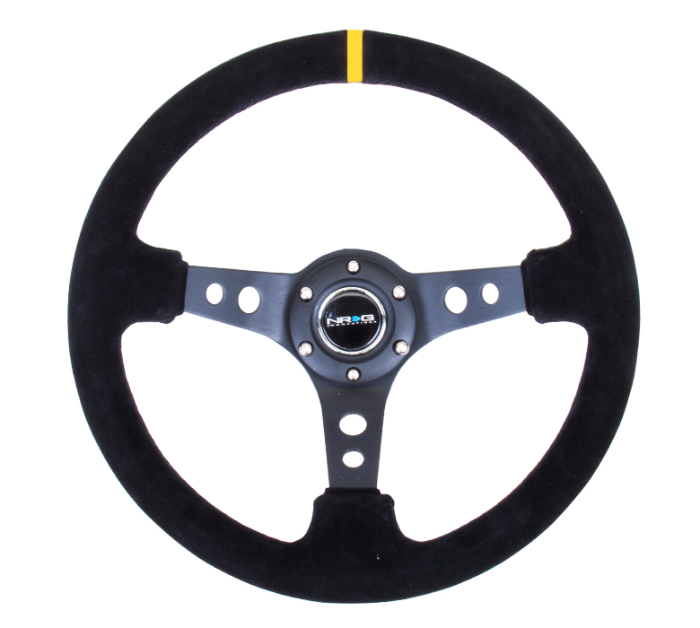 NRG 350mm Sport Suede Deep Dish Steering Wheel