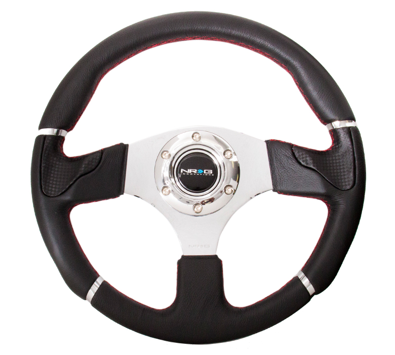 NRG Evo 320mm Leather Steering Wheel