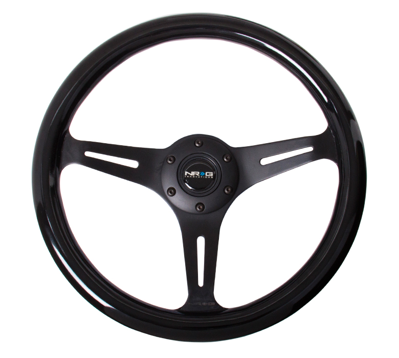 NRG Black Classic Woodgrain 320mm Steering Wheel
