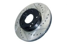 StopTech 06-15 Civic Rear Right Drilled and Slotted Brake Rotor