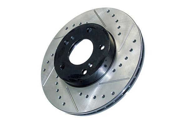 StopTech Drilled and Slotted Front Rotor: Driver/Left