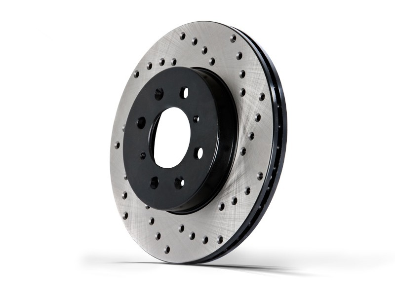 StopTech Cross Drilled Front Rotor: Passenger/Right