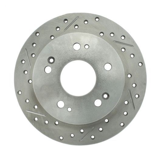 StopTech 227.62061L Select Sport Drilled and Slotted Brake Rotor; Rear Left