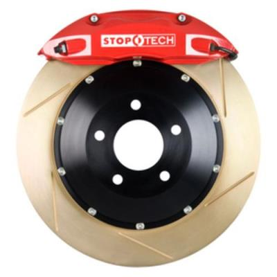 StopTech Front Big Brake Kit: Red Caliper and Zinc Slotted Rotor